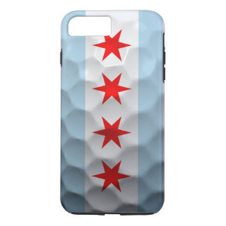 Chicago Flag Golf Ball Pattern iPhone 7 Plus Case