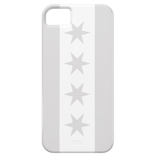 Chicago Flag Grey - iPhone 5 Case For The iPhone 5