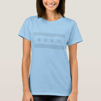 Chicago Flag Grey - Ladies T-Shirt