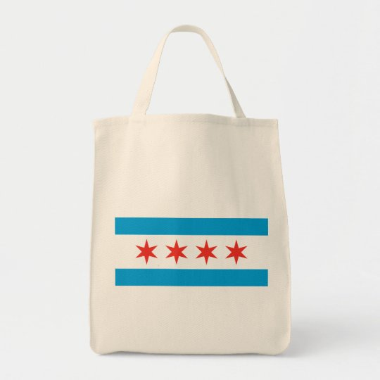 Chicago Flag Grocery Tote