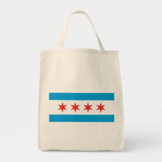 Chicago Flag Grocery Tote Grocery Tote Bag