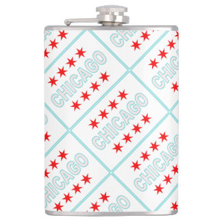 Chicago Flag Hip Flask