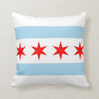 Chicago Flag, Illinois American MoJo Pillow