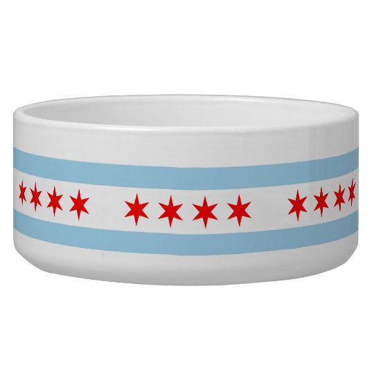 Chicago Flag, Illinois Flag Pet Bowl