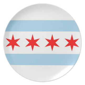 Chicago Flag, Illinois State Plate