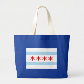 Chicago Flag Jumbo Tote Bag