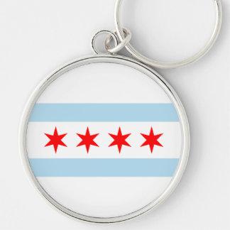 Chicago Flag Key Ring