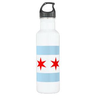 Chicago Flag Liberty Bottle 710 Ml Water Bottle
