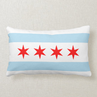 Chicago Flag Lumbar Cushion