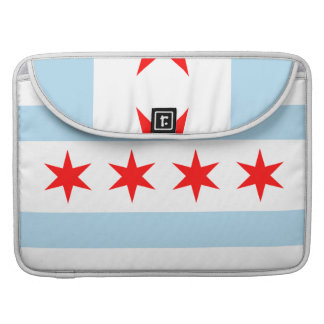 Chicago Flag Macbook Pro Rickshaw Flap Sleeve