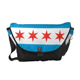 Chicago Flag Messenger Bag