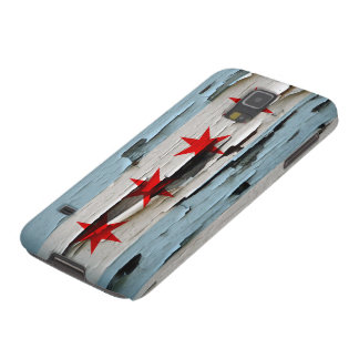 Chicago Flag Paint Peel Look Galaxy S5 Cover