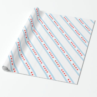 Chicago Flag Pattern Wrapping Paper