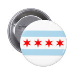 Chicago Flag Pinback Buttons