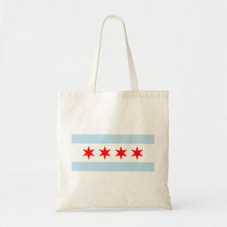 Chicago Flag Reusable Tote Bag