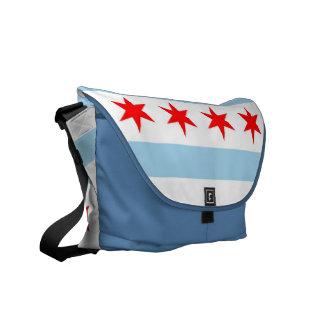 Chicago Flag Rickshaw Messenger Bag