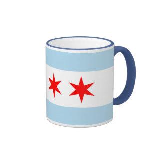 Chicago flag ringer coffee tea mug