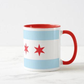 Chicago Flag Ringer Mug