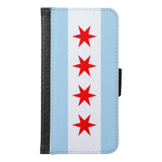 Chicago Flag Samsung Galaxy S6 Wallet Case