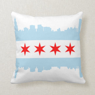 Chicago Flag Skyline American MoJo Pillow