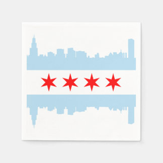 Chicago Flag Skyline Disposable Napkin