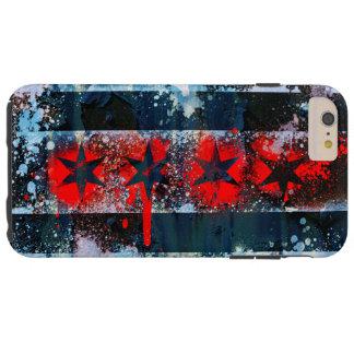 Chicago Flag Spray Paint Tough iPhone 6 Plus Case