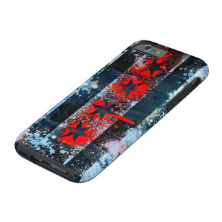 Chicago Flag Spray Paint Tough iPhone 6 Case