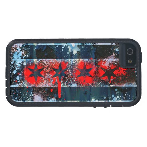 Chicago Flag Spray Paint iPhone 5 Case