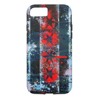 Chicago Flag Spray Paint iPhone 7 Case