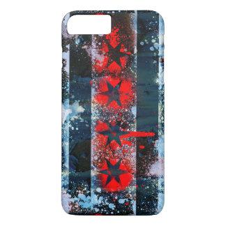 Chicago Flag Spray Paint iPhone 7 Plus Case