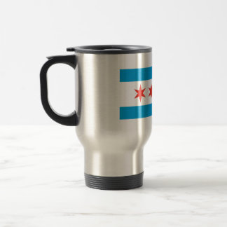 Chicago Flag Stainless Steel Coffee Mug