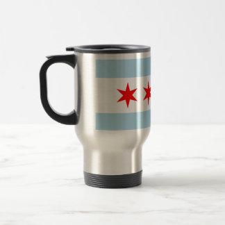 Chicago Flag Stainless Steel Travel Mug