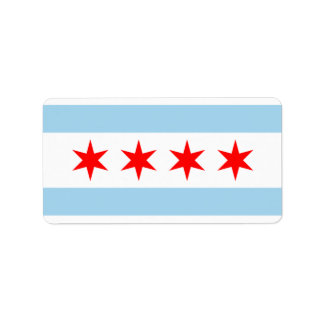 CHICAGO FLAG STICKERS! LABEL