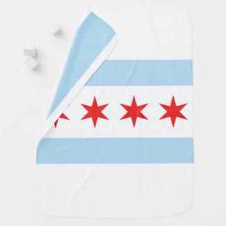 Chicago Flag Stroller Blanket Buggy Blanket
