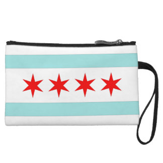 Chicago Flag Wristlet Clutches