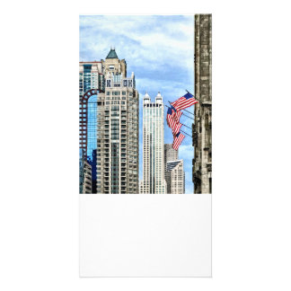 Chicago - Flags Along Michigan Avenue Photo Cards