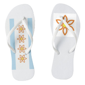 Chicago Flower Flip Flops