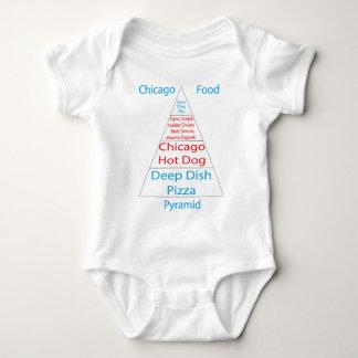 Chicago Food Pyramid Baby Bodysuit