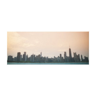 Chicago from the lake stretched canvas prints