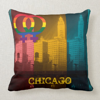 Chicago Gay Pride Lesbian 1930's Wrigley Building Cushion