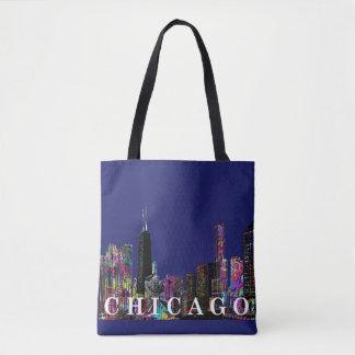 Chicago graffiti tote bag