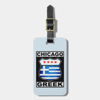 Chicago Greek American Luggage Tag Template