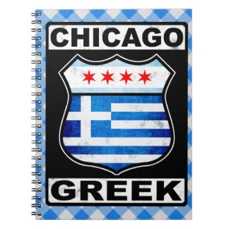Chicago Greek American Notepad Notebook