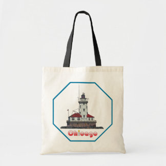 Chicago Harbor Light Budget Tote Bag