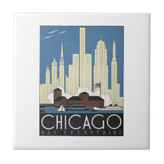 Chicago Has Everything Small Square Tile