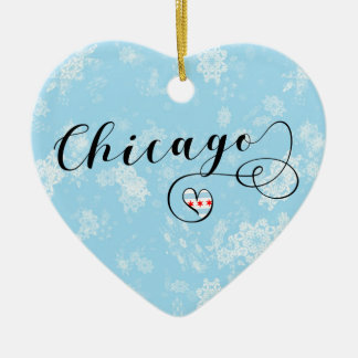 Chicago Heart, Christmas Tree Ornament