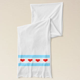 Chicago Heart Flag Scarf