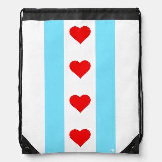 Chicago Heart Flag Vertical Backpack