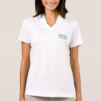 Chicago Heart Flag Women's Polo Shirt