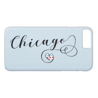 Chicago Heart Mobile Phone Case, Illinois iPhone 8 Plus/7 Plus Case